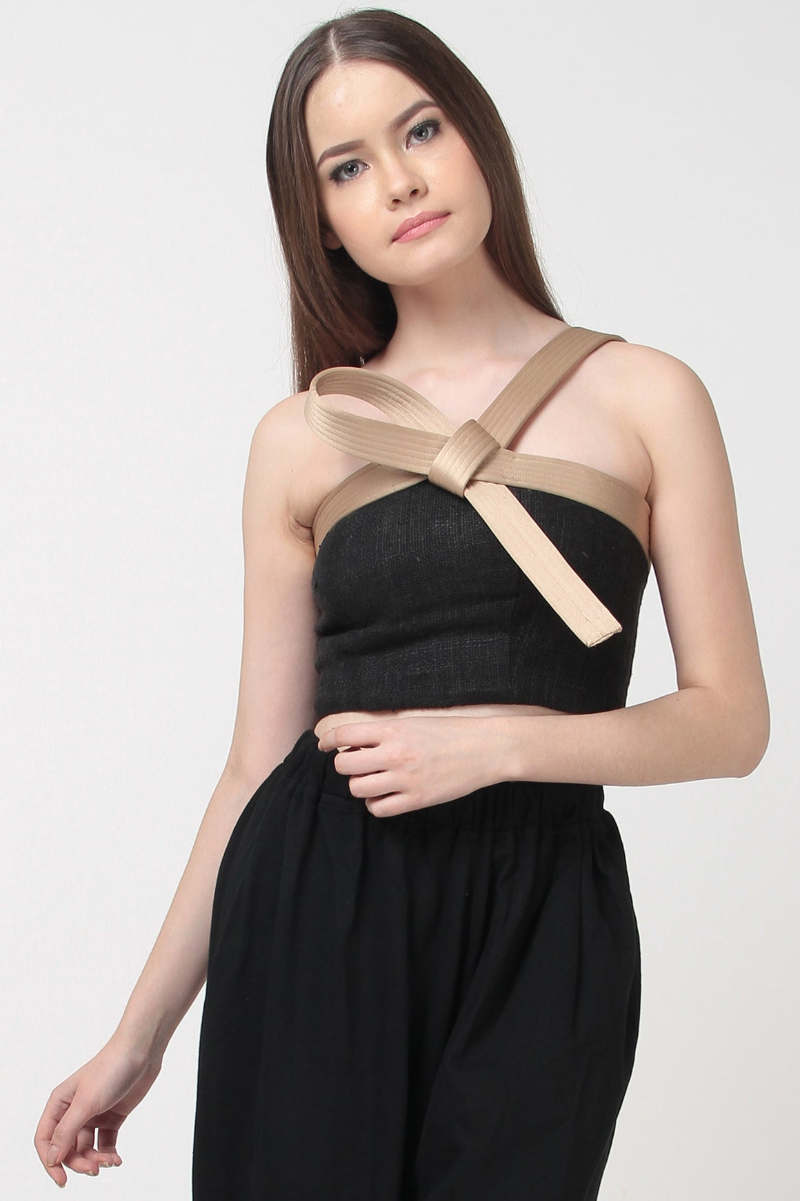 AIKIDO BUSTIER TOP BLACK