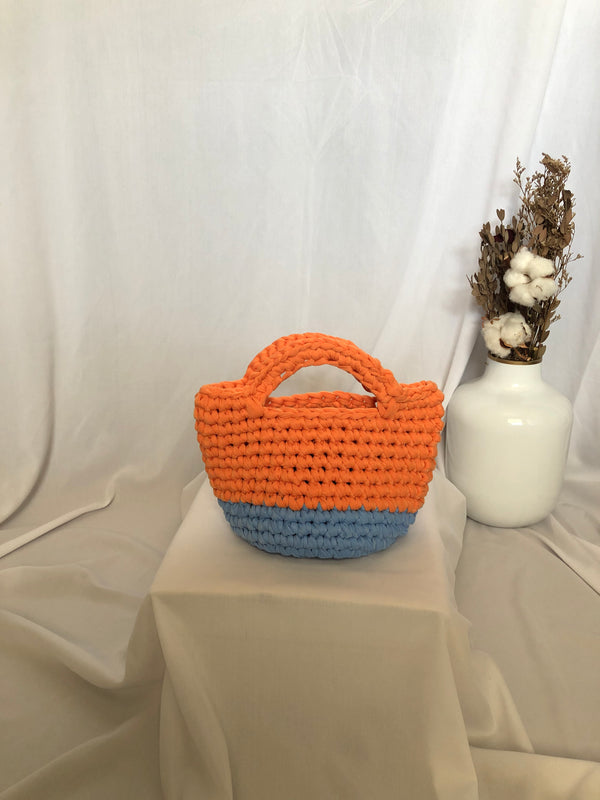 Bobo Totebag Orange Light Blue - Bona