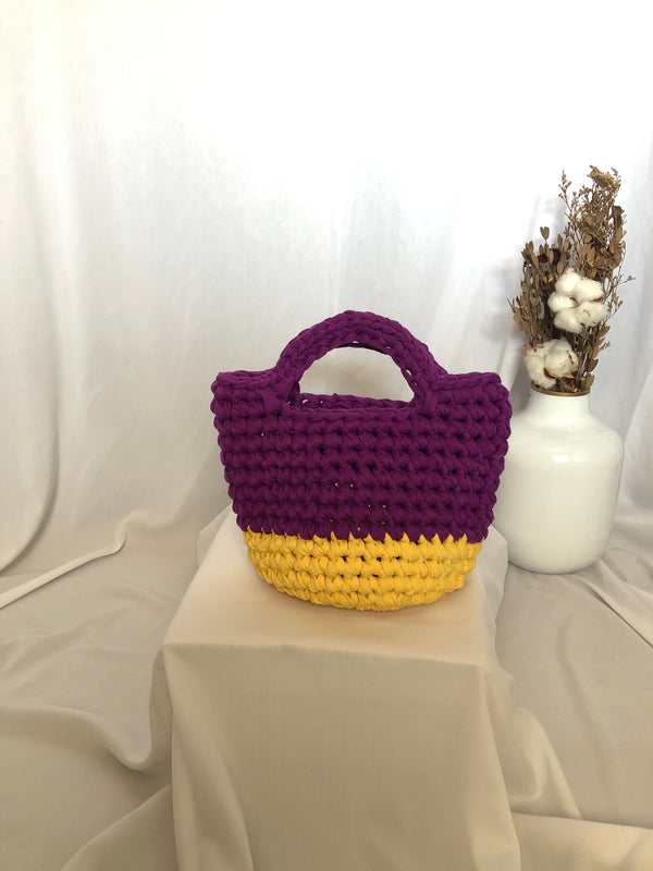 Bobo Totebag Purple Yellow - Bona