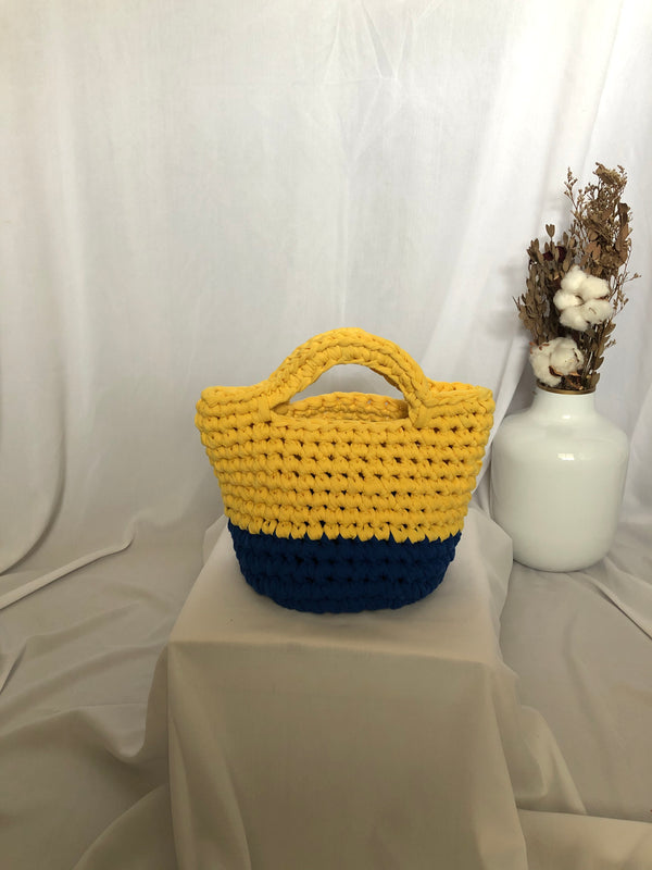 Bobo Totebag Yellow Dark Blue - Bona