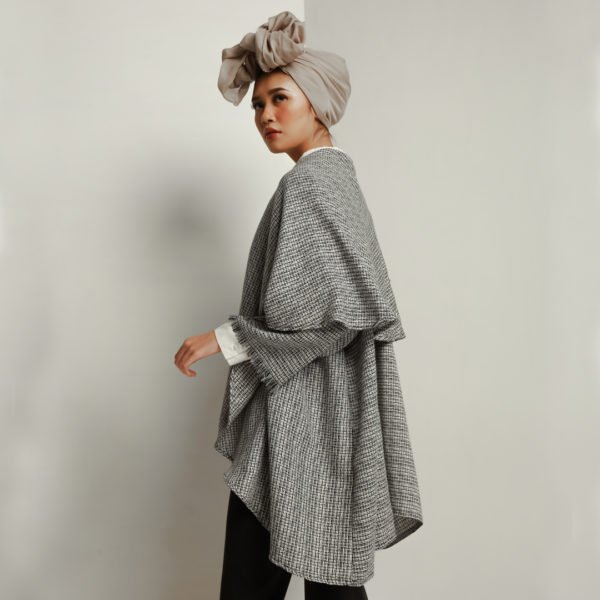 Davina Outer Tweed Black - Jenaa & Kaia - hglhouse