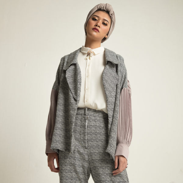 Bilva Outer Tweed Black - Jenna & Kaia - hglhouse