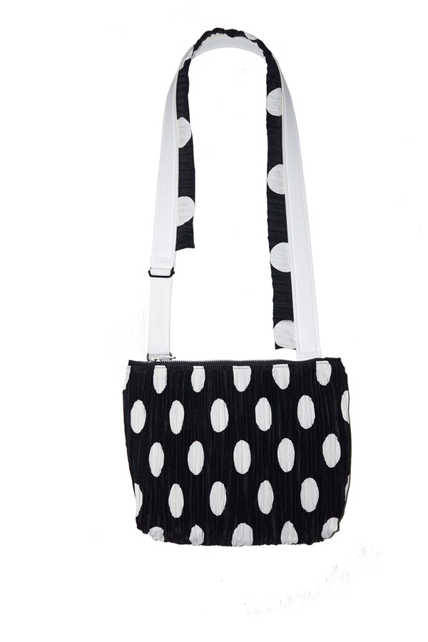 Pleated Pattern Sling  Big Polka - Mannequin Plastic - hglhouse