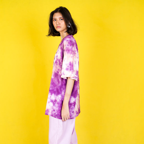 Tie Dye Top Purple Peach - Tooyoung