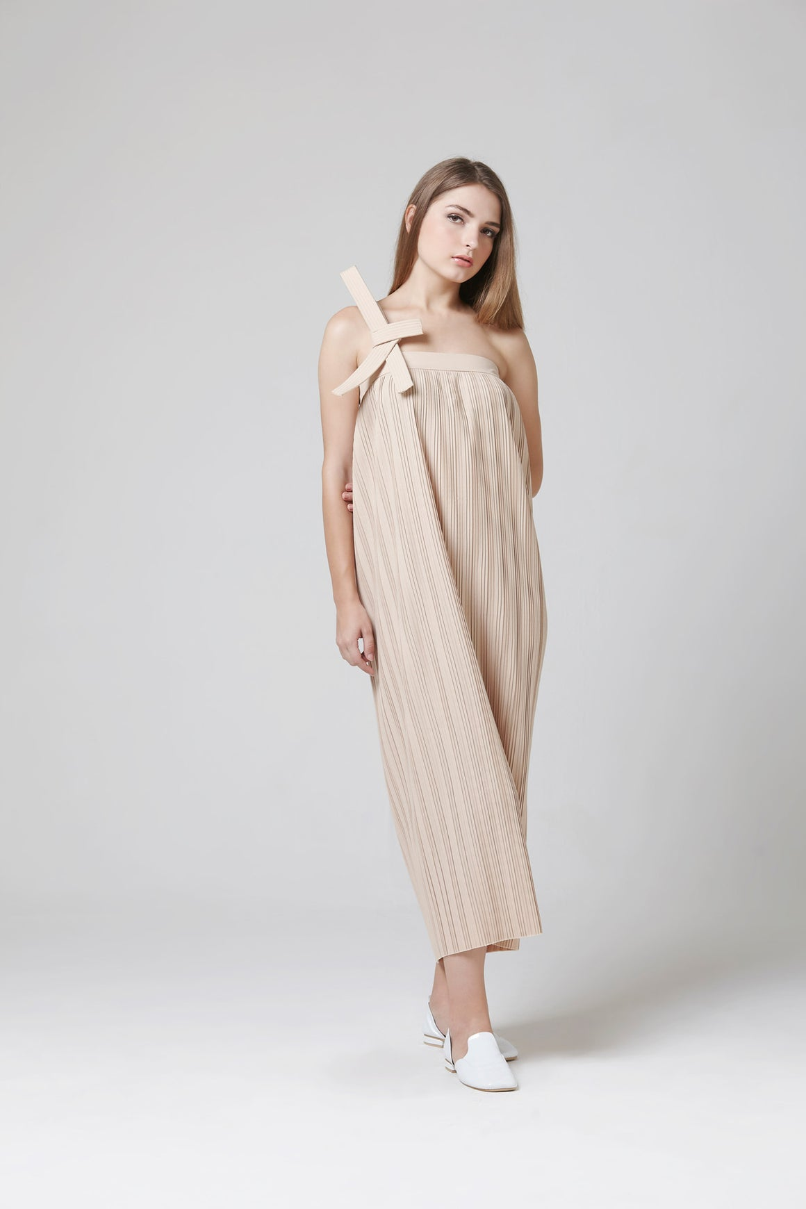 GRACIE DRESS CARAMEL