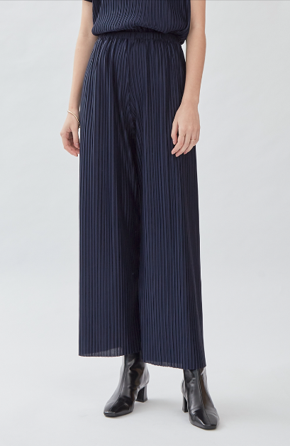 Pvra Pleated Trousers Navy - Shopatvelvet - hglhouse