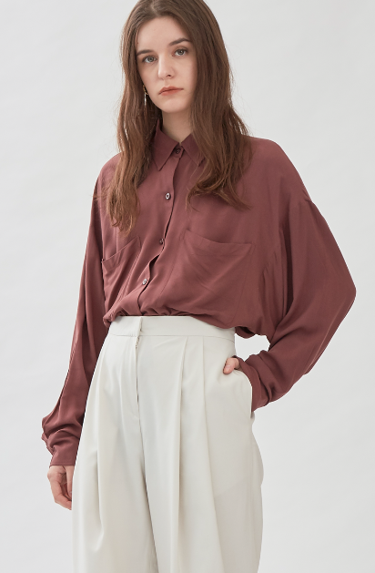 Reverie shirt in Marsala - Shopatvelvet - hglhouse