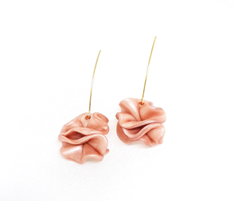 Acro Earrings Peach - Mita Jewelry - hglhouse