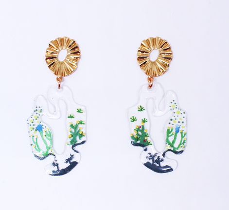 Tifera Earrings Green - Mita Jewelry - hglhouse