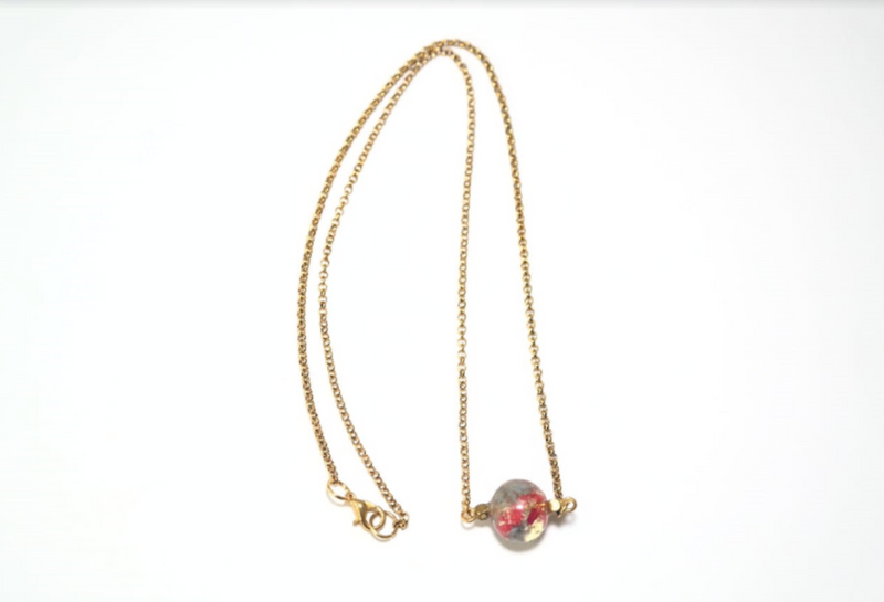 Chrystal Necklace Red - Mita Jewelry - hglhouse
