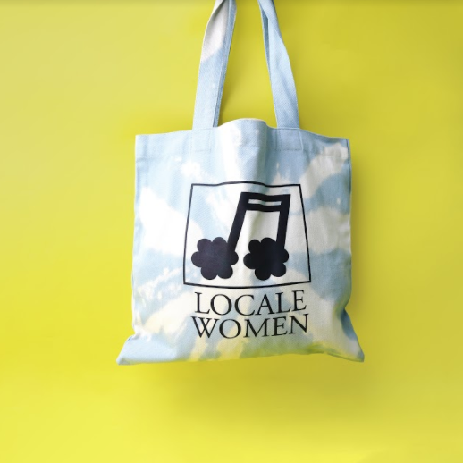 Wild Honey Blue Totebag - Locale Woman