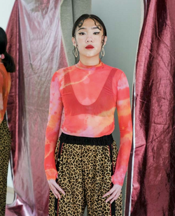 Red Dragon Moss Mesh Tiedye Top - Laoduchevita - hglhouse