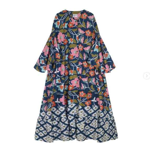 Camelia dress Navy - Nadjani - hglhouse