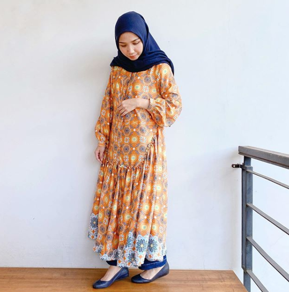Aster dress orange - Nadjani - hglhouse
