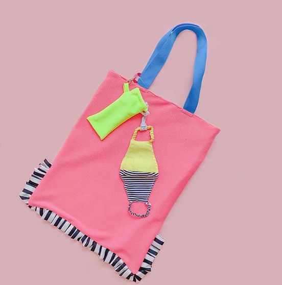 Mix Color Fabric Tote Bag and Mask Pink - Mannequin Plastic - hglhouse
