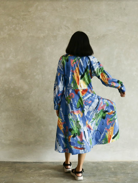 Abstract Paint Dress - High On Life - hglhouse