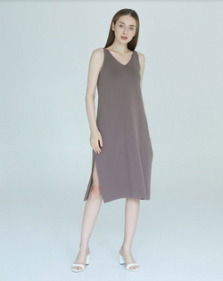 Kim Dress Burgundy - White Collar Concept - hglhouse