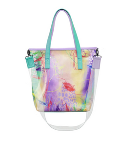 Clear Tote Bag Sketch Turquoise - Mannequin Palstic - hglhouse