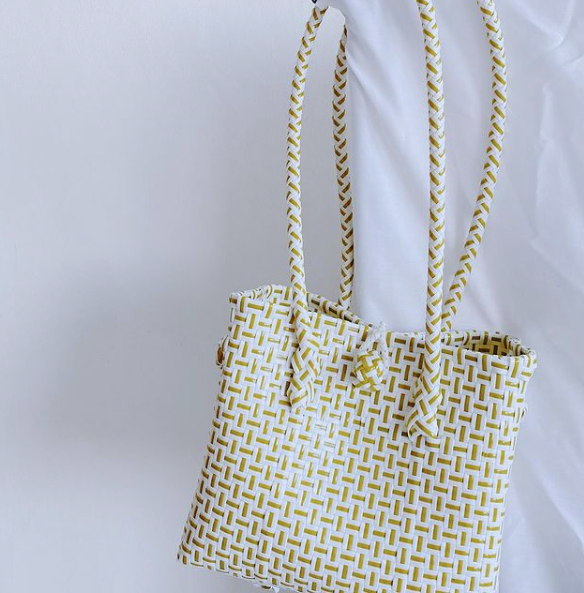 Longstrap Handbag White Yellow - Kruns - hglhouse