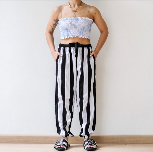 Bee Pants Black White - Ladouchevita - hglhouse
