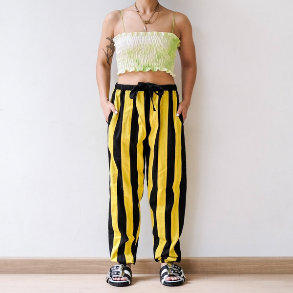 Bee Pants Black Yellow - Ladouchevita - hglhouse