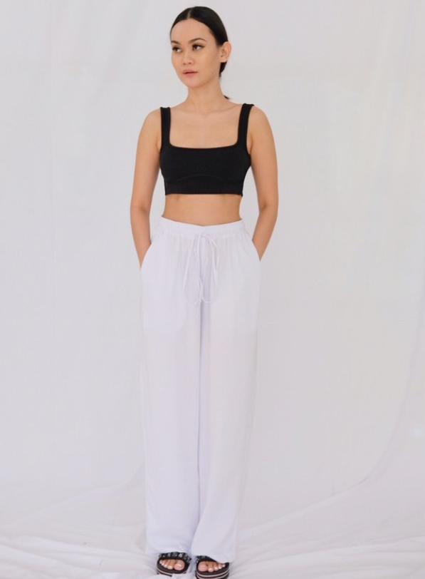 Basic Rayon Pants (White) - Mine