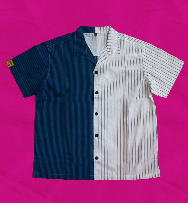 Duo Shirt Blue White - Tooyoung