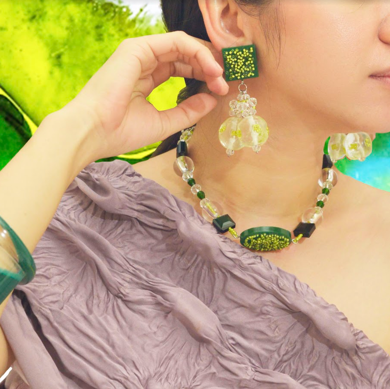 Radiata Necklace Green - Prel Studio