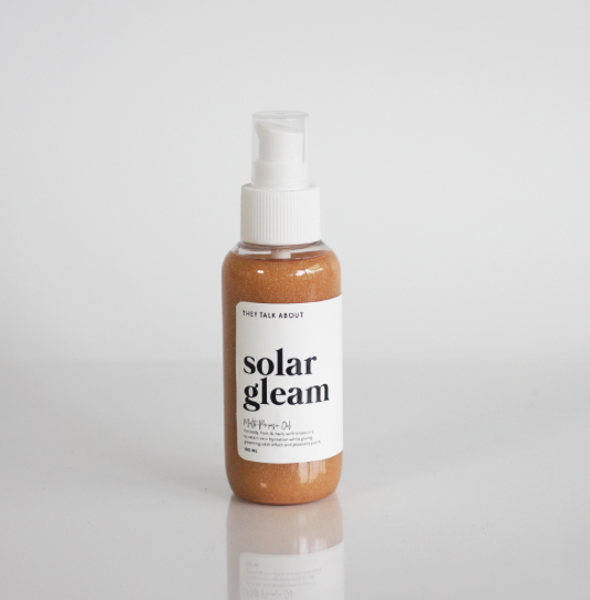 Shimmering Body Oil 'Solar Gleam - They Talk About