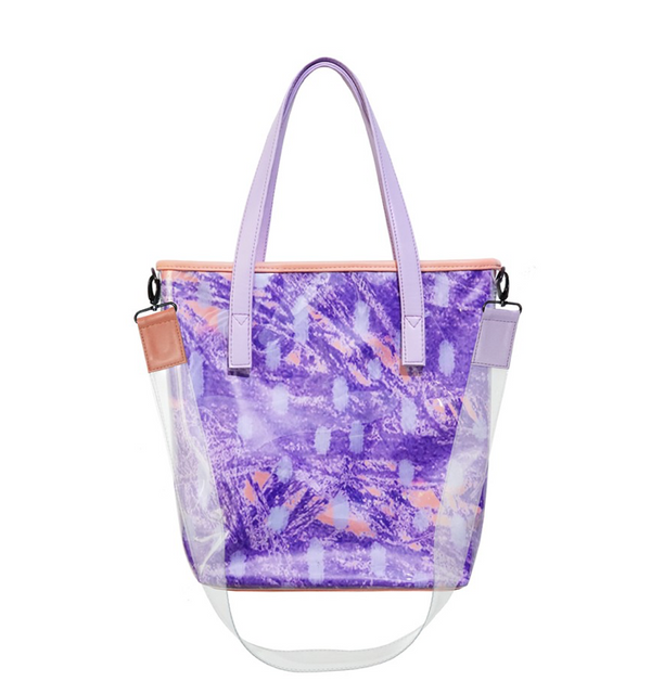 Clear Tote Bag  Sketch Lilac - Mannequin Plastic