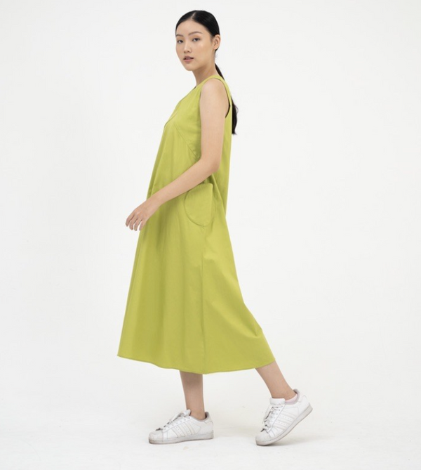 Aphronsia Dress Lime Green - Nult Supply