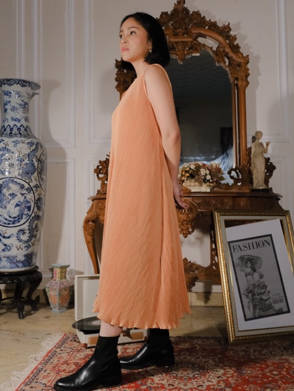 Eloise Dress Peach - Mine