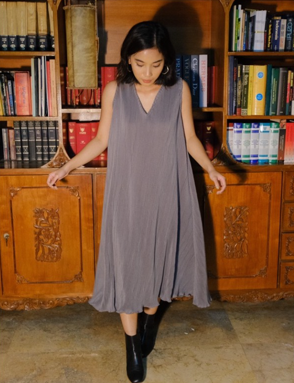Eloise Dress Grey - Mine