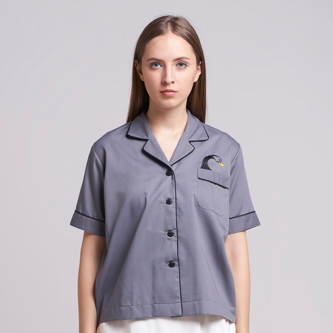 PAJA SHIRT GREY - TEMPORARY ANXIETY