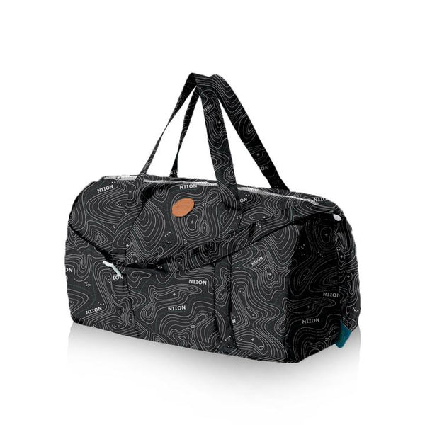 DUFFLE V.2 TOPOGRAPHY BLACK - Niion
