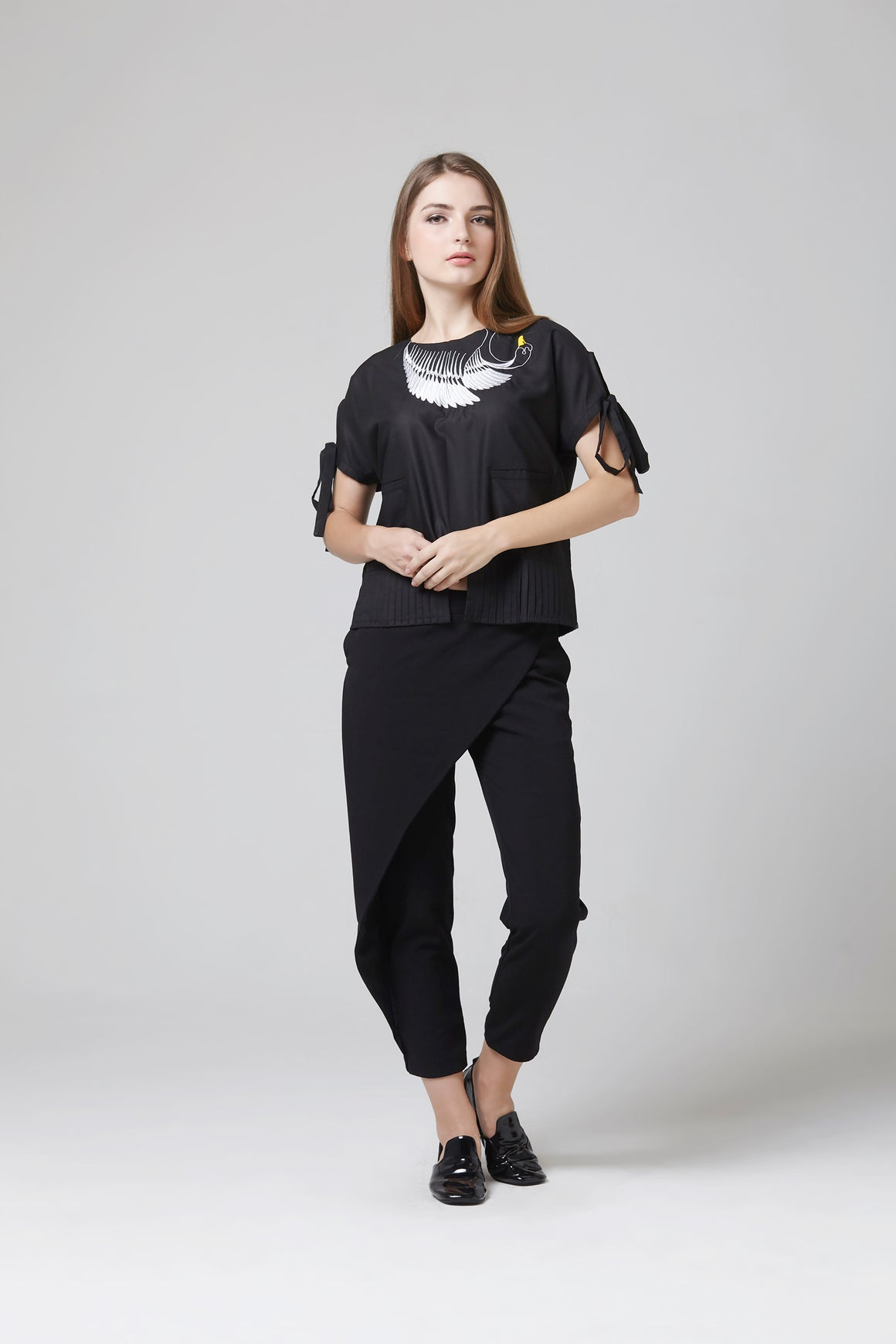 HAKU BLOUSE BLACK - TEMPORARY ANXIETY