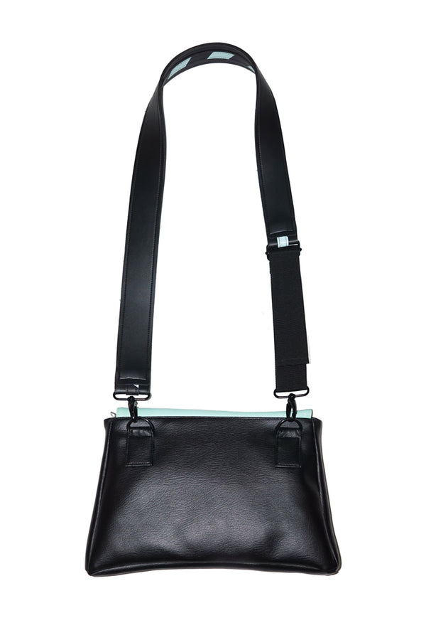 Trapesium Two Tone Bag Black Tosca - Mannequin Plastic - hglhouse