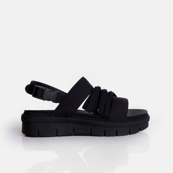 Eribbon Sandal Black - Mks Shoes