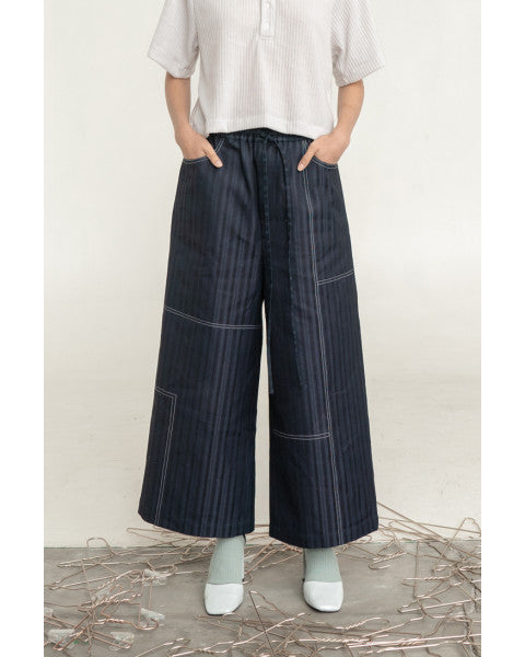 Garis Canvas Baggy Pants - Tees And Scissors - hglhouse