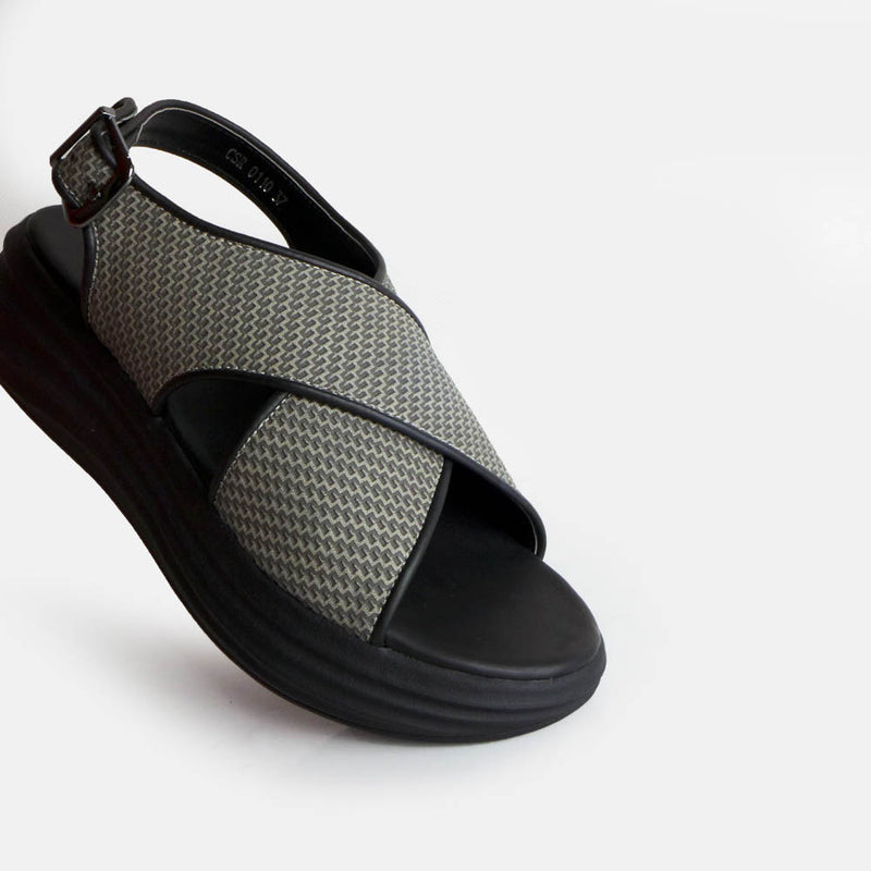 Cross Sandal rustic Grey - Mks Shoes - hglhouse
