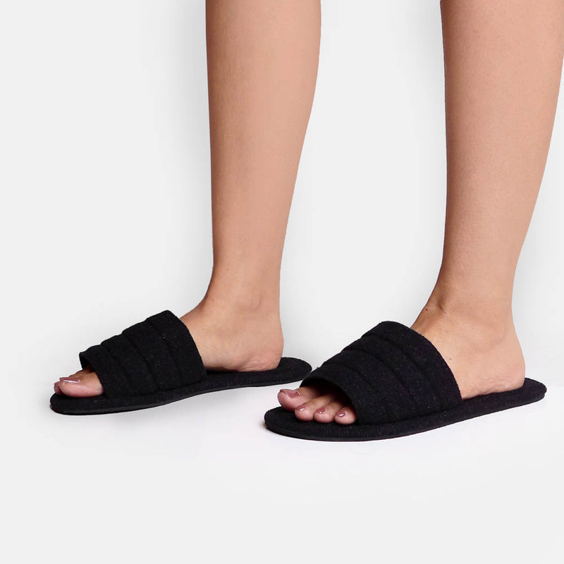 Bread D'Grey Slippers - Mks Shoes - hglhouse