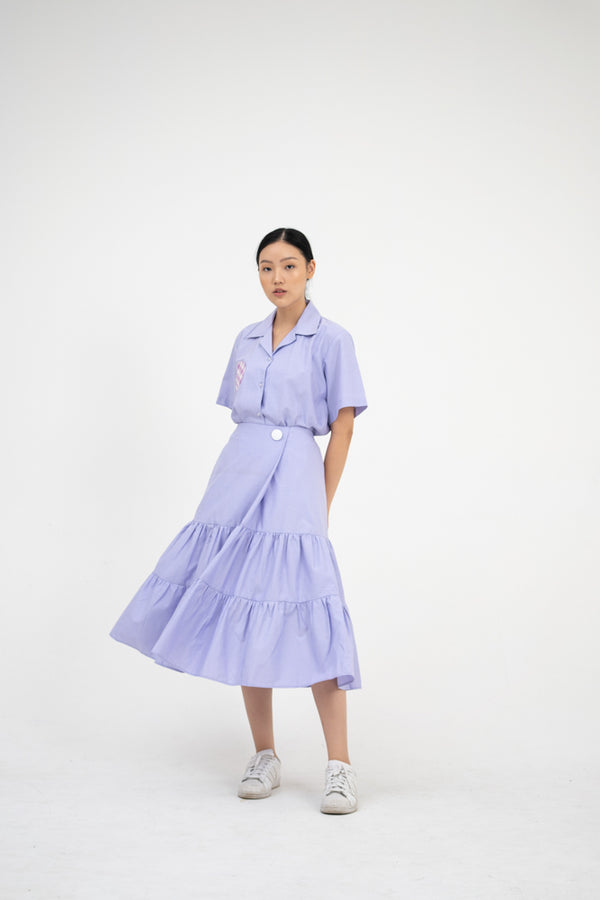 Greta Skirt in Lavender - Nult Supply - hglhouse