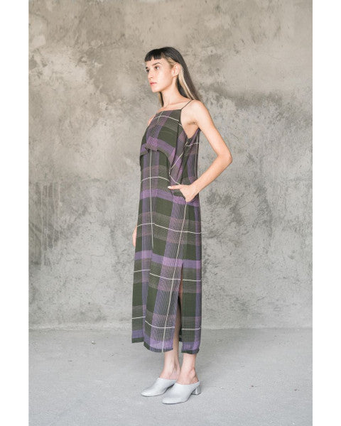 Sheer Green Tartan Dress - Tees And Scissors