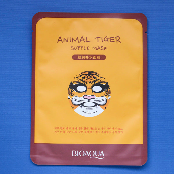 Dollar Maxi Pad Club's Bioaqua Supple Tiger Animal Sheet Face Mask
