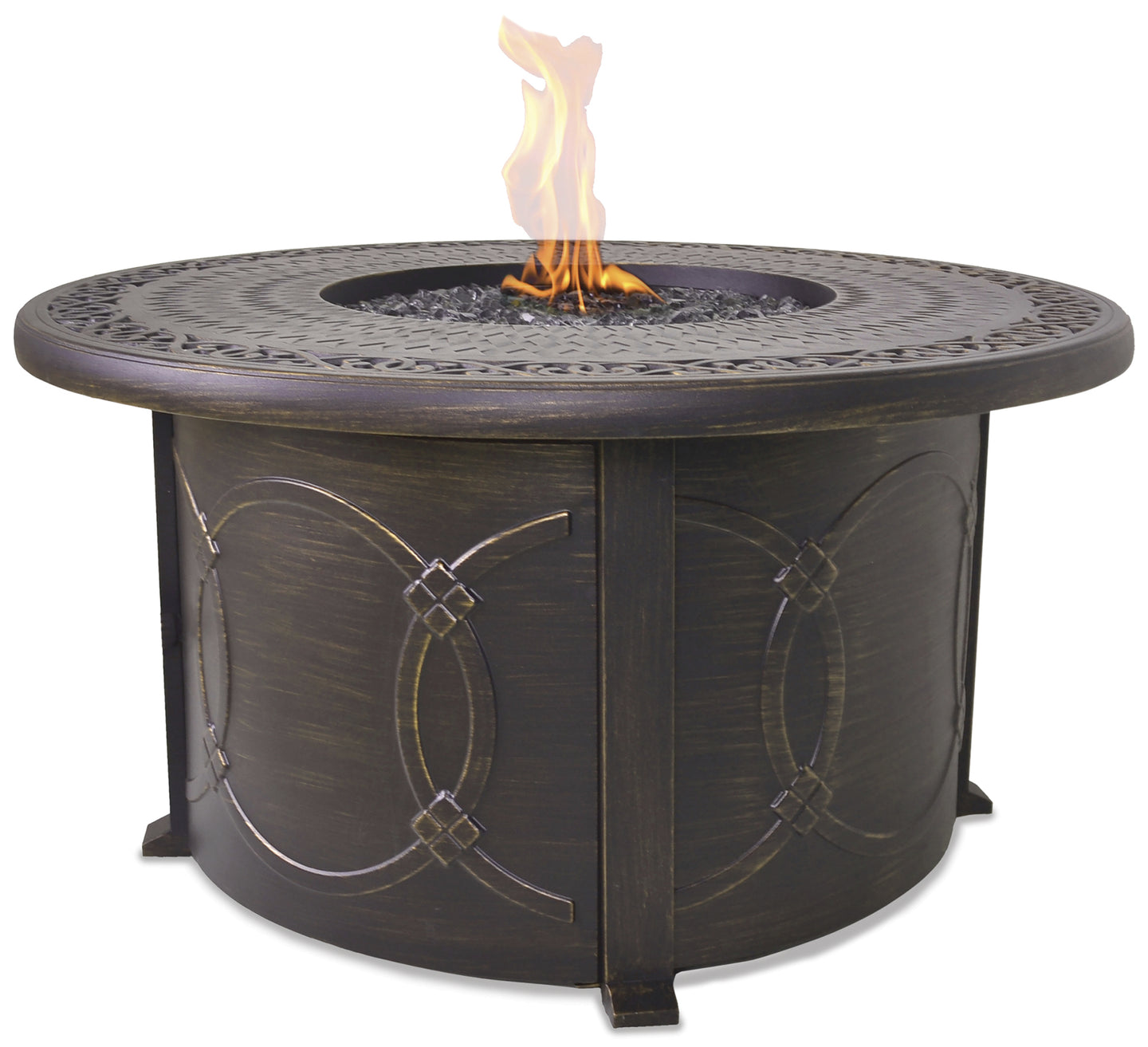 On Sale Now Round Outdoor Propane Fire Pits Endless Summer GAD1390SP!