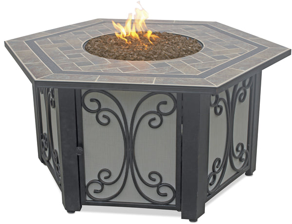Want Hexagon Outdoor Propane Fire Pits Endless Summer GAD1352SP!