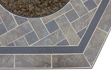 Want Hexagon Outdoor Propane Fire Pits Endless Summer GAD1352SP With Slate Tile Mantel!