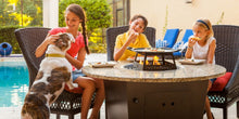 Entertaining Is Easy With Firetainment Fire Tables Riviera With Universal Cooking Package!