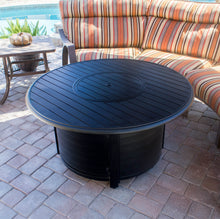 Join Others With Round Cast Aluminum Patio Tables AZ Slatted!