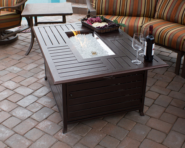 Buy Rectangle Cast Aluminum Patio Tables AZ Slatted!